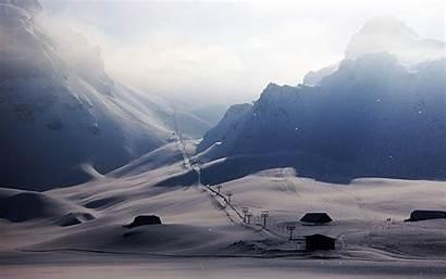 Skiing Ski Snow Winter Mountain Landscape Nature