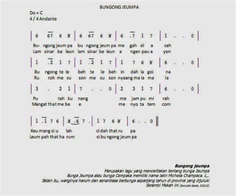 not angka lagu prahu layar not angka lagu bungong jeumpa info operator not angka