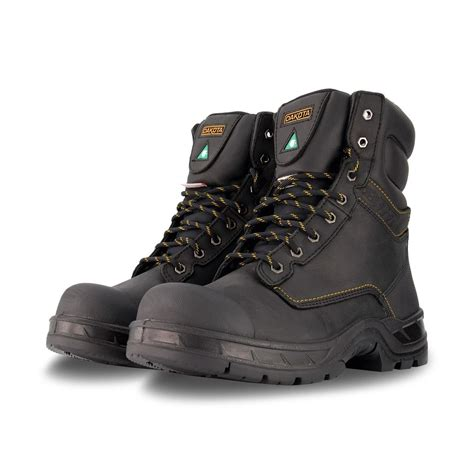 Men's 877 8 Inch Insulated Leather Safety Work Boots Steel ...