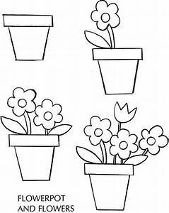 How to Draw a Pot & Flowers (Spring) - free sample page ...