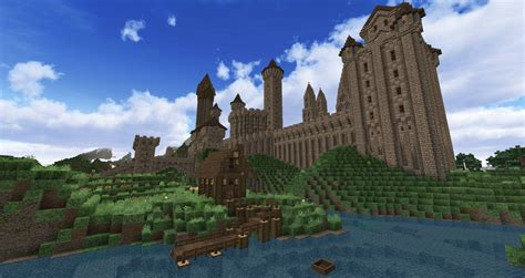 minecraft castle wip   peteridish  deviantart