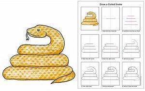 Draw A Coiled Snake Art Projects For Kids