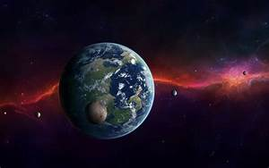 Galaxy Moon Earth View - Pics about space