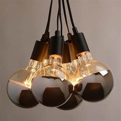 Pendant Cluster Lamp Bulb Fixtures Lighting Copper