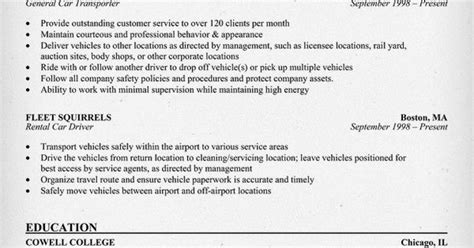 Car Driver Resume Exles by Car Driver Resume Sle Resumecompanion Larry Paul Spradling Seo Resume Sles