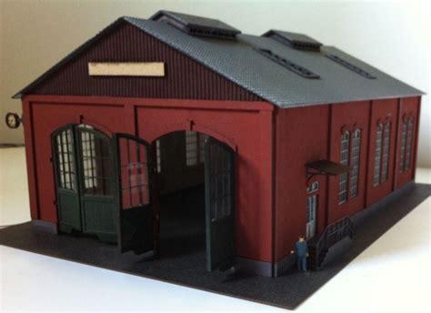 model train ho scale red  door garage diy kit