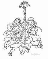 Coloring Pages Spring Maypole Children Printable Dance Print Pole Sheets Beltane Fun Results Nature Sheet Books Letter Pagan Help Poem sketch template