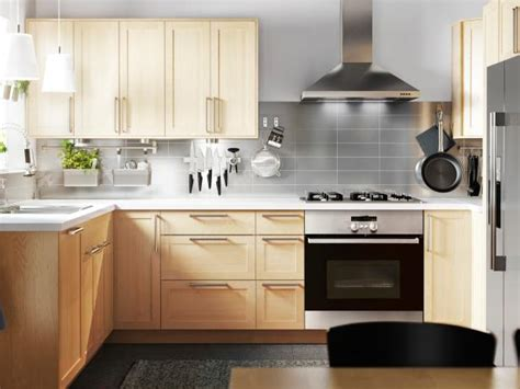 contemporary gray kitchen  light wood cabinetry hgtv