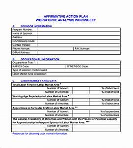 Affirmative action plan template 4 free word excel for Workforce plan template example
