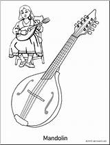 Coloring Mandolin String Pages Instrument Worksheets Instruments Abcteach Bass Musical Worksheeto sketch template