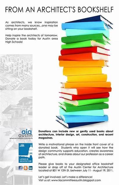 Architecture Donation Drive Latinos Bookshelf Lia Architect