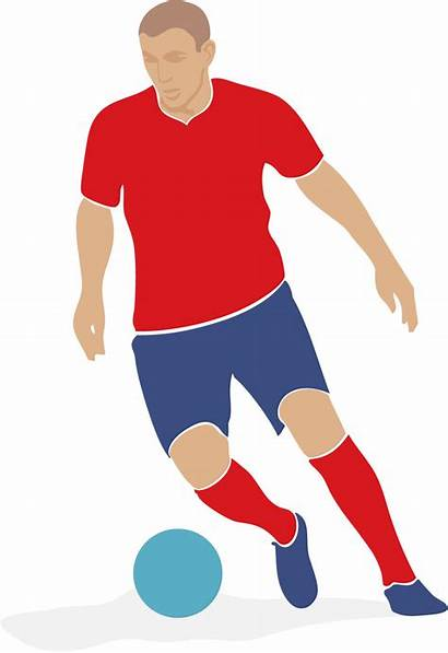 Soccer Player Clipart Vector Clip Playing Football