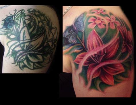 flower cover  tattoos ideas  pinterest tattoos cover  tattoos  roses