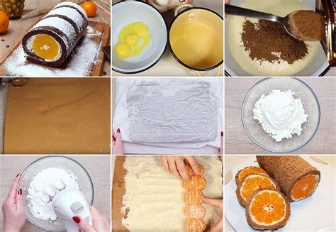Šokolādes rulete ar biezpiena krēmu un mandarīniem   Desserts, Food, Cheese