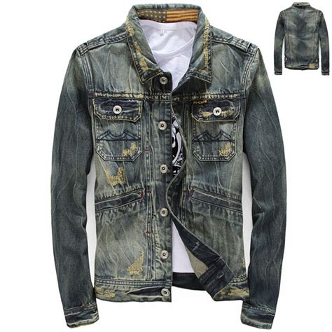 Spring Fall 2015 New Design Mens Hole Ripped Casual Cool Denim Jacket Stylish Coat For Man ...