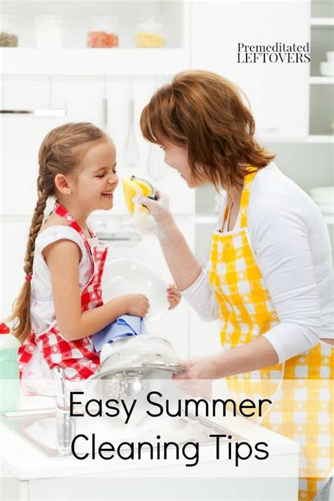 easy summer cleaning tips