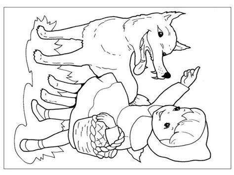 cappuccetto rosso  disegni da colorare   bambini