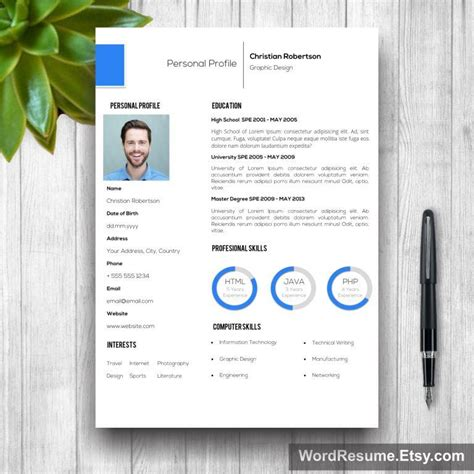 8 page exclusive resume template including cover letter