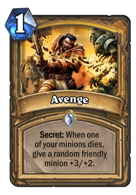 Hearthstone Deck Type Definitions by Avenge Hearthstone Card Hearthstone Top Decks