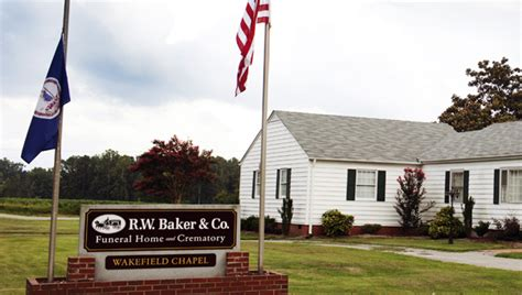Rw Baker Funeral Home bakers purchase wakefield funeral home the suffolk news