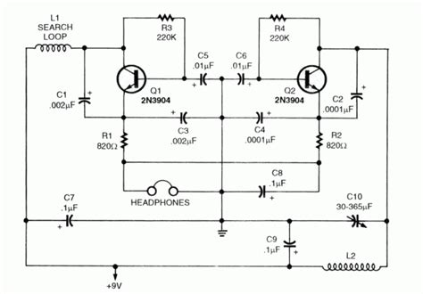 Metal Detector Schematic Circuit Diagram Wiring