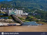 New town or city of Badong in Hubei province in the Three ...