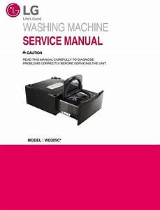 Lg Wd205ck Side Kick Washer Service Manual