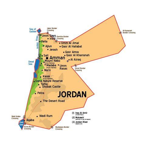 jordan city map jordan cities map western asia asia