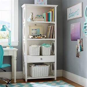 Elsie bookcase pbteen for Bookcase for teenage room