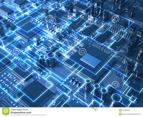 fantasy circuit board  mainboard  glowing schemes