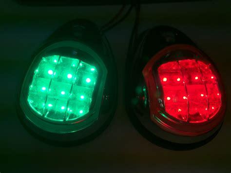 led marine navigation lights marine boat ss304 green starboard port led navigation