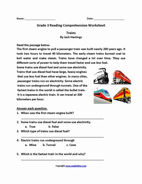 3rd grade reading comprehension worksheets fresh 3rd grade