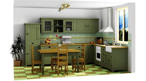 projet cuisine 3d projet 3d de cuisine complète avec table à manger le
