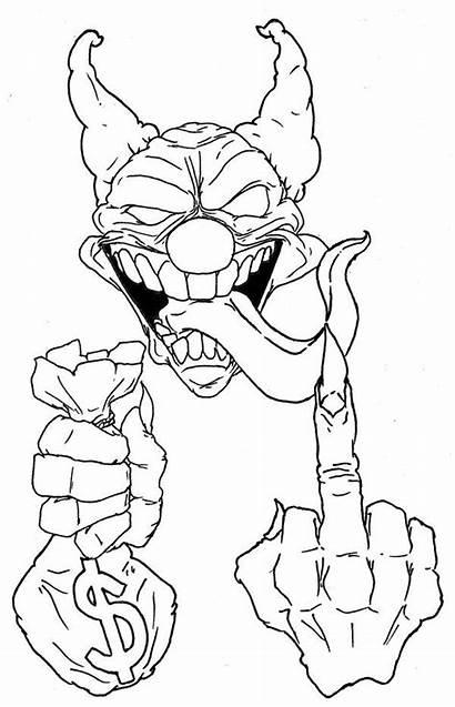 Clown Drawings Skull Tattoo Killer Drawing Joker