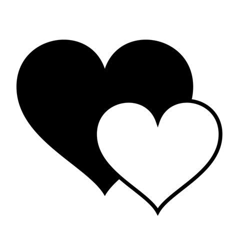 jantung hitam elemen gambar gratis pixabay