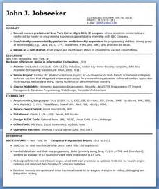 resume exles for students with no work experience c programmer resume