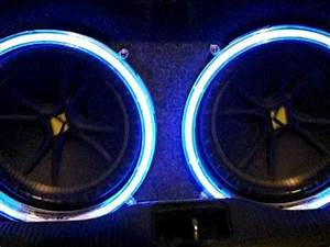kicker subwoofers with neon lights