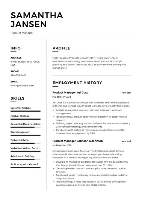 product manager resume guide project manager resume