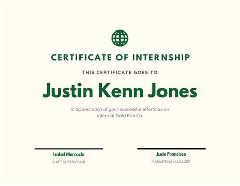 customize  internship certificate templates  canva