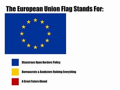 Flag Eu European Union Stands Europe Parodies