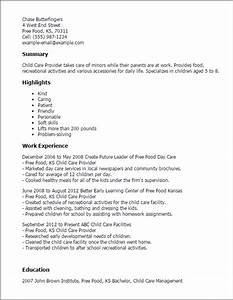 child care provider resume template best design tips With how to make a resume for child care job