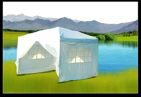 white easy set pop  party tent canopy gazebo
