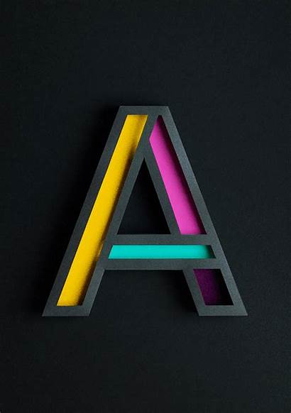Letter 3d Typography Paper Designtaxi Cool Letters