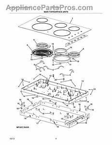 Parts For Frigidaire Fgec3645ps1  Main Top    Surface Units