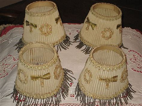 l shades with fringe 4 vintage 1930 s small l shades with beaded fringe