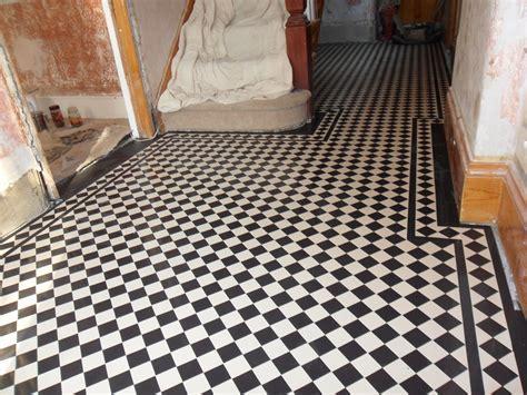 Victorian geometric tiled hallways in London,Hertfordshire
