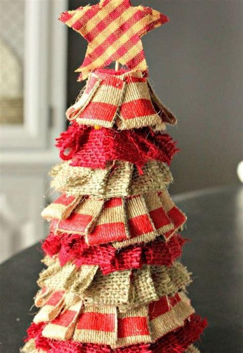 burlap christmas tree burlap ornaments garlands tree