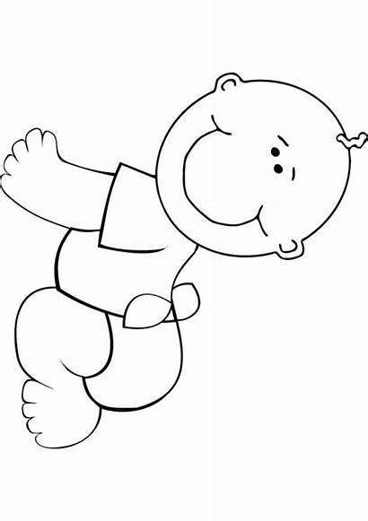 Coloring Printable Pages Boy Simple Easy Sheets