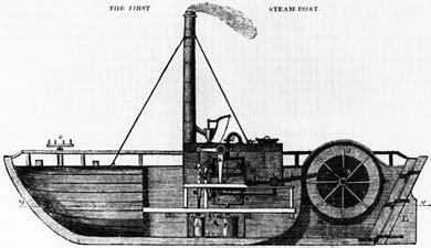 Primer Barco De Vapor Revolucion Industrial by En 1788 Isaac Briggs Y William Longstreet Patentan El