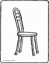 Chair Colouring Kiddicolour Drawing sketch template